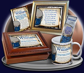 BM-MU02, Name Meaning Bookmark, Personalized with Bible Verse or Famous Quote,, personalized, music notes William drums