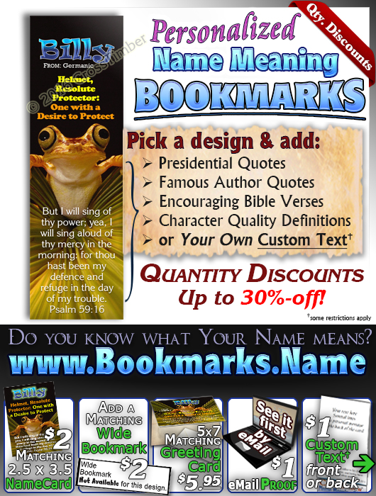 BM-AN36, Name Meaning Bookmark, Personalized with Bible Verse or Famous Quote,