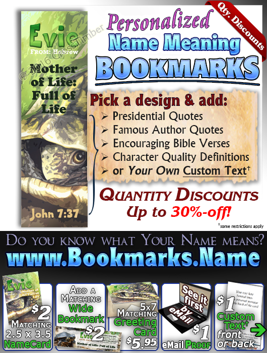 BM-AN60, Name Meaning Bookmark, Personalized with Bible Verse or Famous Quote,